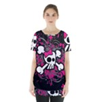 Girly Skull & Crossbones Skirt Hem Sports Top