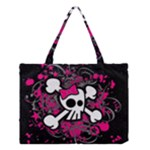 Girly Skull & Crossbones Medium Tote Bag