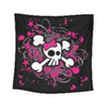 Girly Skull & Crossbones Square Tapestry (Small)