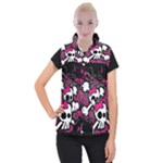 Girly Skull & Crossbones Women s Button Up Vest