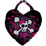 Girly Skull & Crossbones Giant Heart Shaped Tote