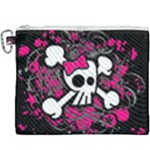 Girly Skull & Crossbones Canvas Cosmetic Bag (XXXL)