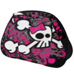 Girly Skull & Crossbones Full Print Accessory Pouch (Big)