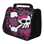 Girly Skull & Crossbones Full Print Travel Pouch (Small)