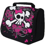 Girly Skull & Crossbones Full Print Travel Pouch (Big)