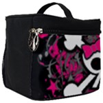 Girly Skull & Crossbones Make Up Travel Bag (Big)