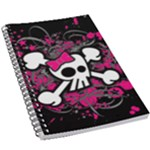 Girly Skull & Crossbones 5.5  x 8.5  Notebook