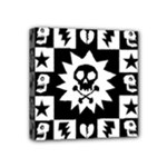 Gothic Punk Skull Mini Canvas 4  x 4  (Stretched)