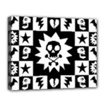 Gothic Punk Skull Canvas 14  x 11  (Stretched)