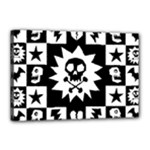 Gothic Punk Skull Canvas 18  x 12  (Stretched)