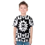 Gothic Punk Skull Kids  Cotton Tee