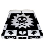 Gothic Punk Skull Fitted Sheet (Queen Size)
