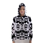 Gothic Punk Skull Women s Hooded Windbreaker