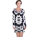 Gothic Punk Skull Long Sleeve Nightdress