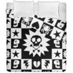 Gothic Punk Skull Duvet Cover Double Side (California King Size)