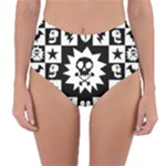 Gothic Punk Skull Reversible High-Waist Bikini Bottoms