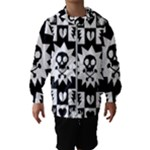 Gothic Punk Skull Kids  Hooded Windbreaker