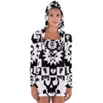 Gothic Punk Skull Long Sleeve Hooded T-shirt
