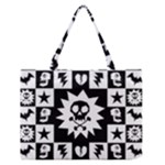 Gothic Punk Skull Zipper Medium Tote Bag