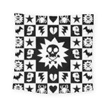 Gothic Punk Skull Square Tapestry (Small)