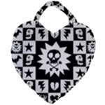 Gothic Punk Skull Giant Heart Shaped Tote