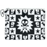 Gothic Punk Skull Canvas Cosmetic Bag (XXL)