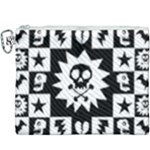 Gothic Punk Skull Canvas Cosmetic Bag (XXXL)