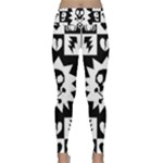 Gothic Punk Skull Lightweight Velour Classic Yoga Leggings