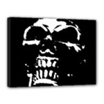 Morbid Skull Canvas 16  x 12  (Stretched)