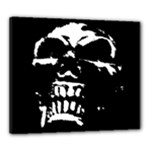 Morbid Skull Canvas 24  x 20  (Stretched)