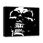 Morbid Skull Deluxe Canvas 20  x 16  (Stretched)
