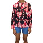 Love Heart Splatter Kids  Long Sleeve Swimwear