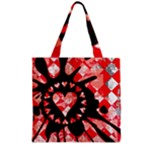 Love Heart Splatter Grocery Tote Bag