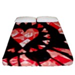 Love Heart Splatter Fitted Sheet (Queen Size)
