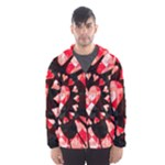 Love Heart Splatter Men s Hooded Windbreaker