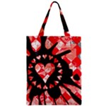 Love Heart Splatter Zipper Classic Tote Bag