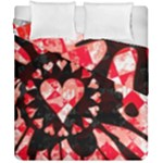 Love Heart Splatter Duvet Cover Double Side (California King Size)