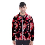 Love Heart Splatter Men s Windbreaker