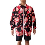 Love Heart Splatter Kids  Windbreaker