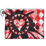 Love Heart Splatter Canvas Cosmetic Bag (XXL)