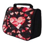 Love Heart Splatter Full Print Travel Pouch (Small)