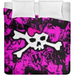 Punk Skull Princess Duvet Cover Double Side (King Size)