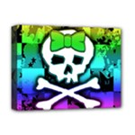 Rainbow Skull Deluxe Canvas 16  x 12  (Stretched)