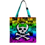 Rainbow Skull Grocery Tote Bag