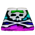 Rainbow Skull Fitted Sheet (Queen Size)
