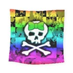 Rainbow Skull Square Tapestry (Small)
