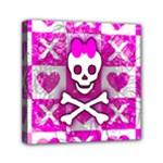 Skull Princess Mini Canvas 6  x 6  (Stretched)