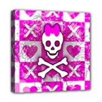 Skull Princess Mini Canvas 8  x 8  (Stretched)