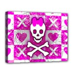 Skull Princess Canvas 14  x 11  (Stretched)