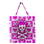 Skull Princess Grocery Tote Bag